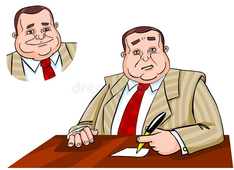 Download Boss Sitting At His Workplace Stock Illustration - Image: 21942203