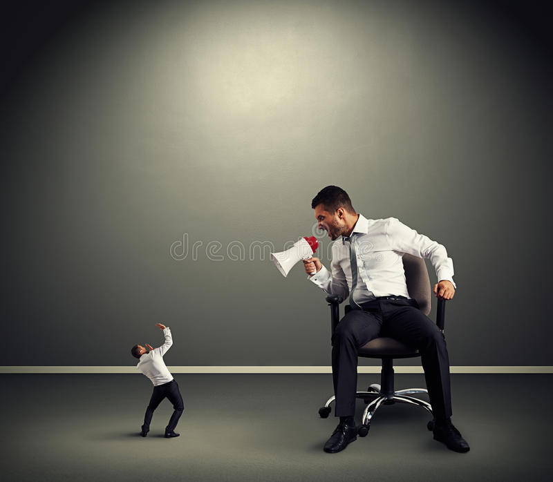 Download Boss With Small Businessman Stock Photo - Image: 33016412