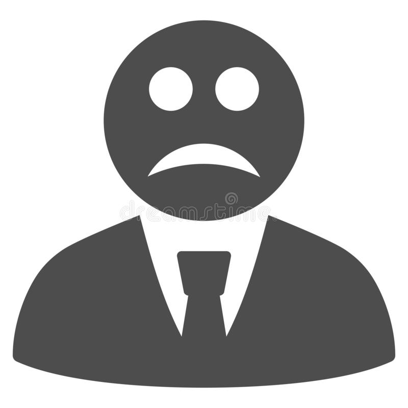 Boss triste Flat Icon libre illustration