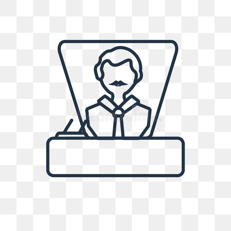 Boss vector icon isolated on transparent background, linear Boss royalty free illustration