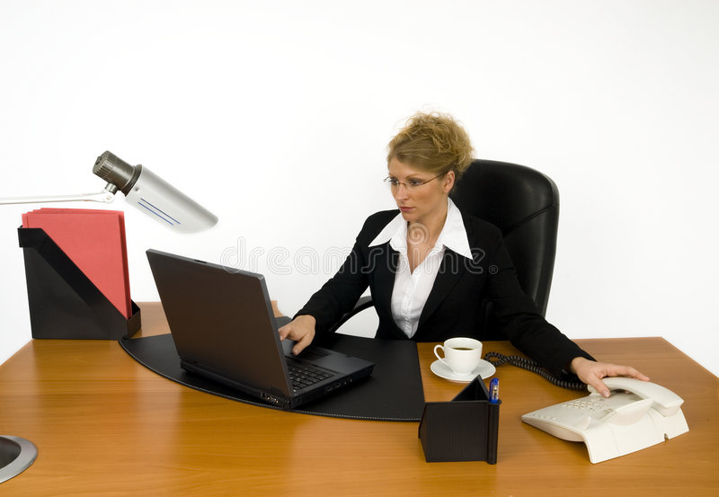 Boss at work. royalty free stock photography