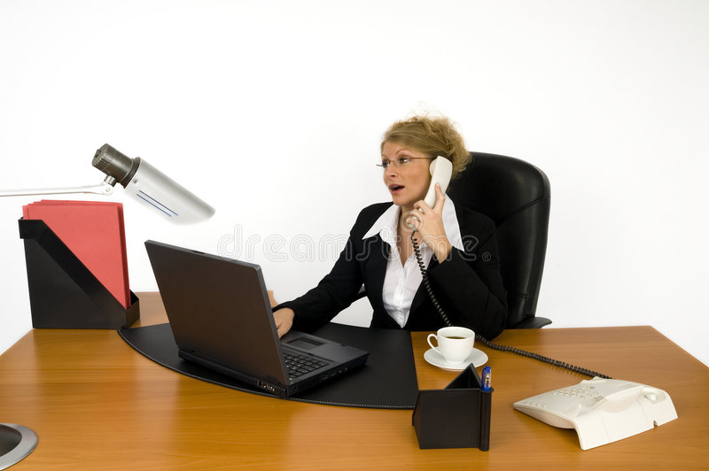 Boss at work. stock image