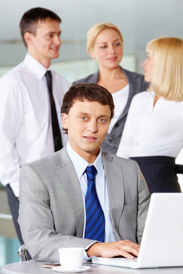 Boss Working Royalty Free Stock Image
