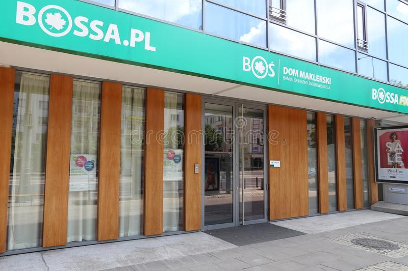 Bossa-Broker-Firma lizenzfreie stockfotografie