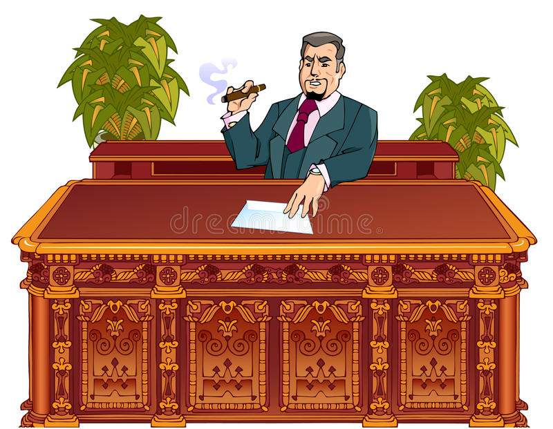 Bossage administratif illustration libre de droits