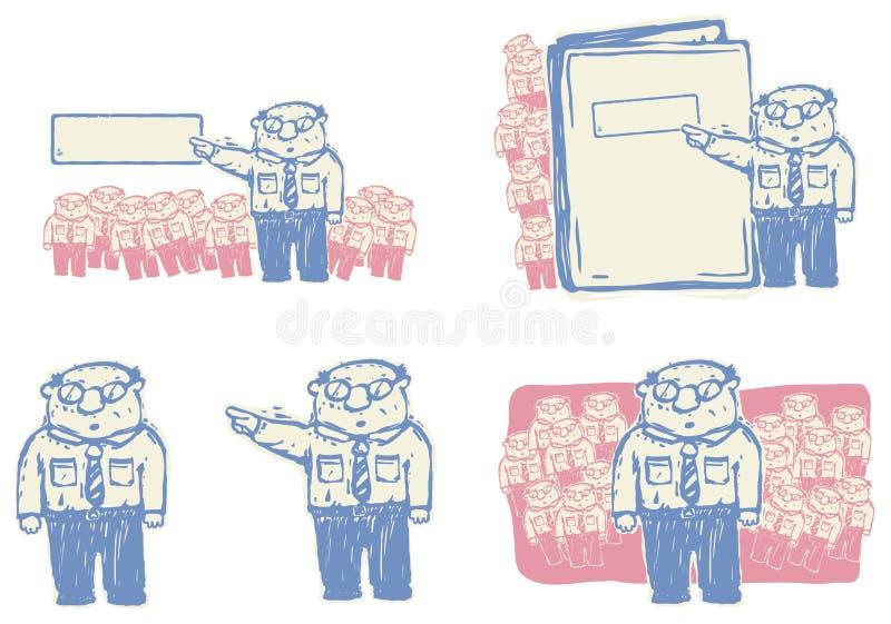 Bossage donnant l'illustration de commandes illustration de vecteur