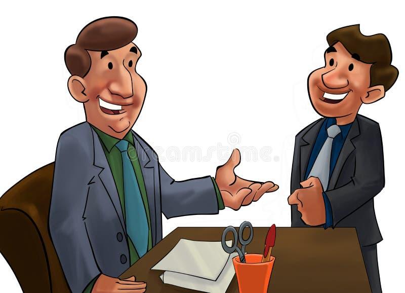 Bossage et ouvrier illustration de vecteur