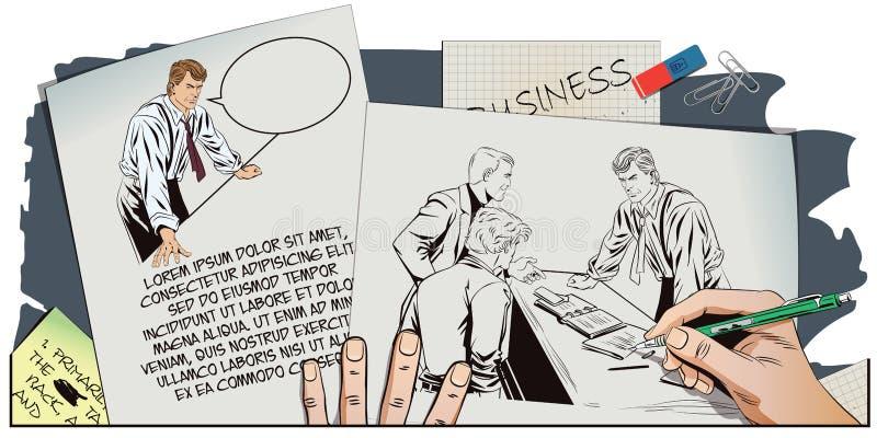 Bossage et subalternes Photo de peintures de main illustration libre de droits