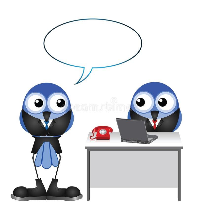 Bossage parlant à l'employé illustration libre de droits