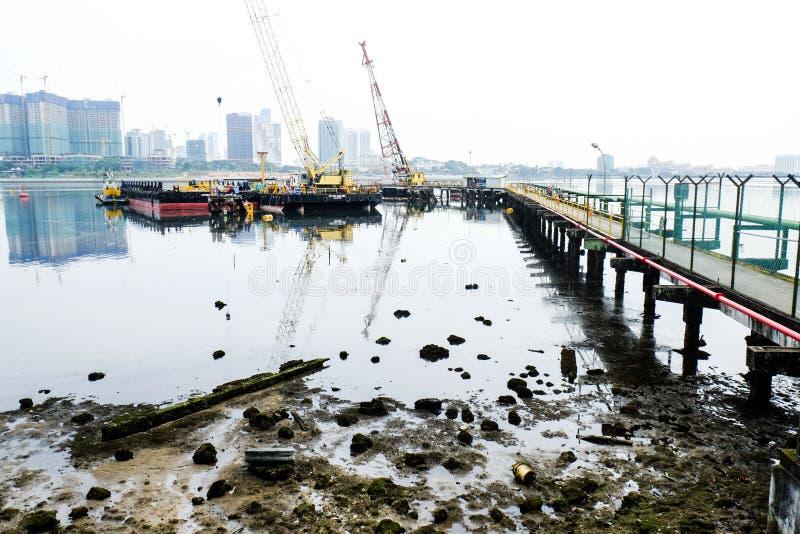 Bossenwaterkant Singapore stock afbeelding