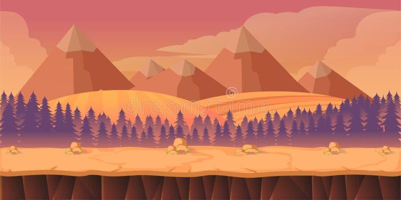 Bosspel 2d toepassing als achtergrond vector illustratie