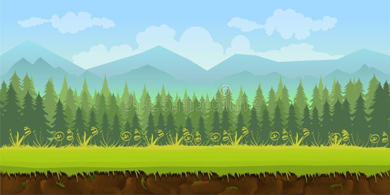 Bosspel 2d toepassing als achtergrond stock illustratie