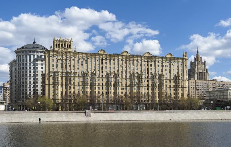 Bostads- hus för generalens struktur i Moskva arkivbild
