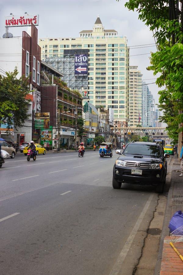 Bostads- område i Bangkok royaltyfri fotografi