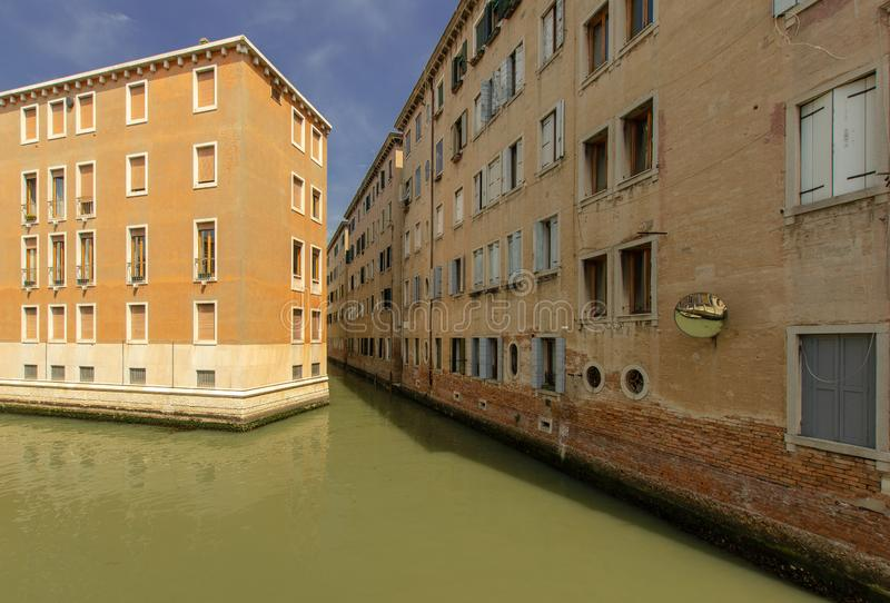 Bostads- omr?de i Venedig arkivbilder