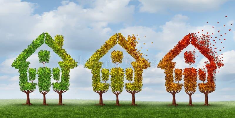 Bostadsmarknadändring stock illustrationer