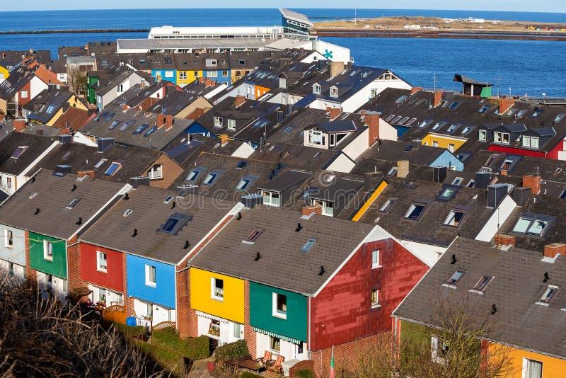 Bostadsområde i Heligoland fotografering för bildbyråer