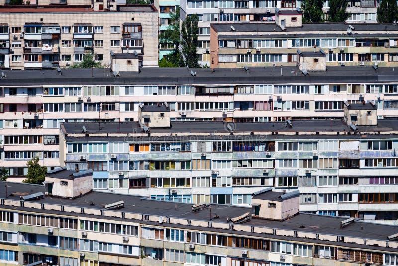 Bostadsområde i Kiev, Ukraina fotografering för bildbyråer