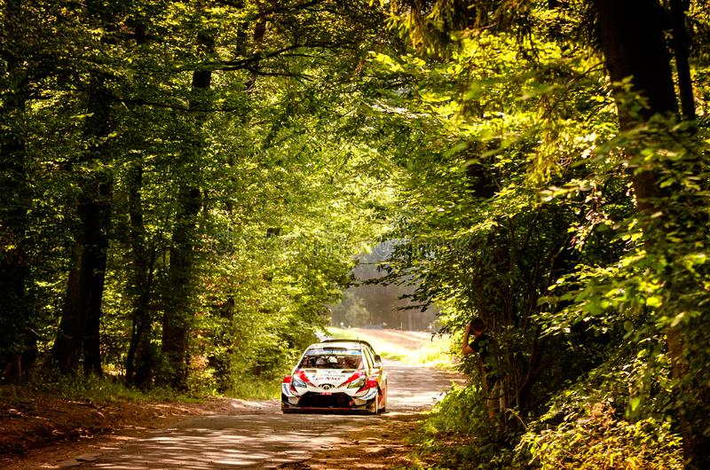 Ott Tanak and Martin Jarveoja at ADAC Rally Germany stock photos