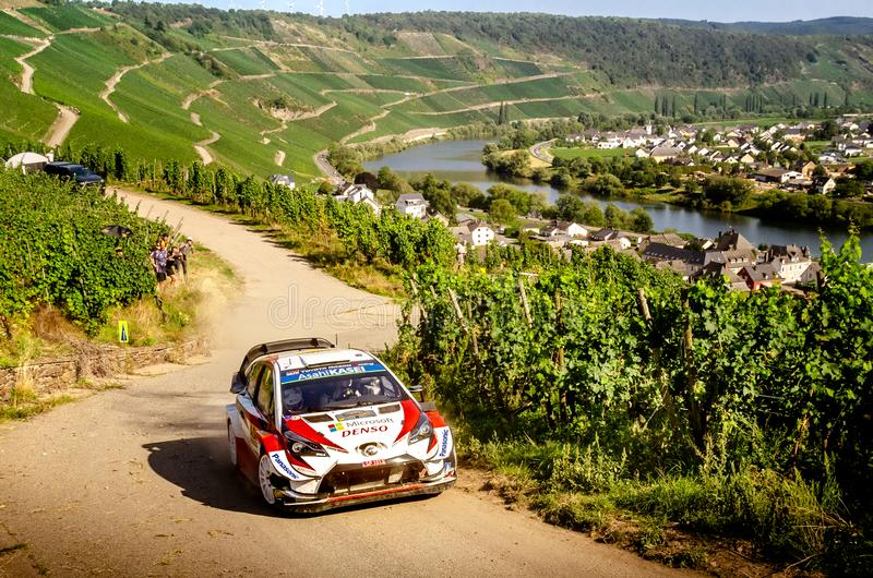 Ott Tanak and Martin Jarveoja at ADAC Rally Germany stock image