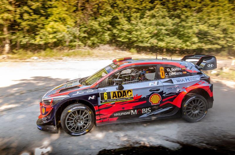 Dani Sordo and Carlos del Barrio at ADAC Rally Germany stock photos