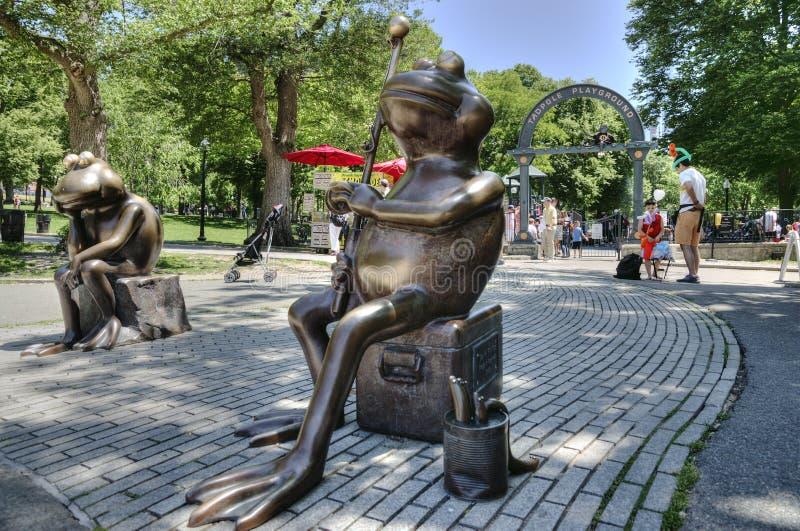 Boston żaby przed Boston Common żaby stawem obrazy royalty free