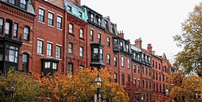 boston расквартировывает рядок стоковая фотография rf