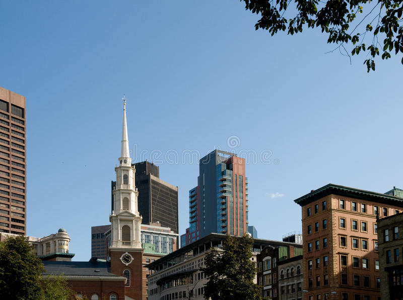 Boston. Massachusetts in the Fall with Various Styles of Architecture stock image