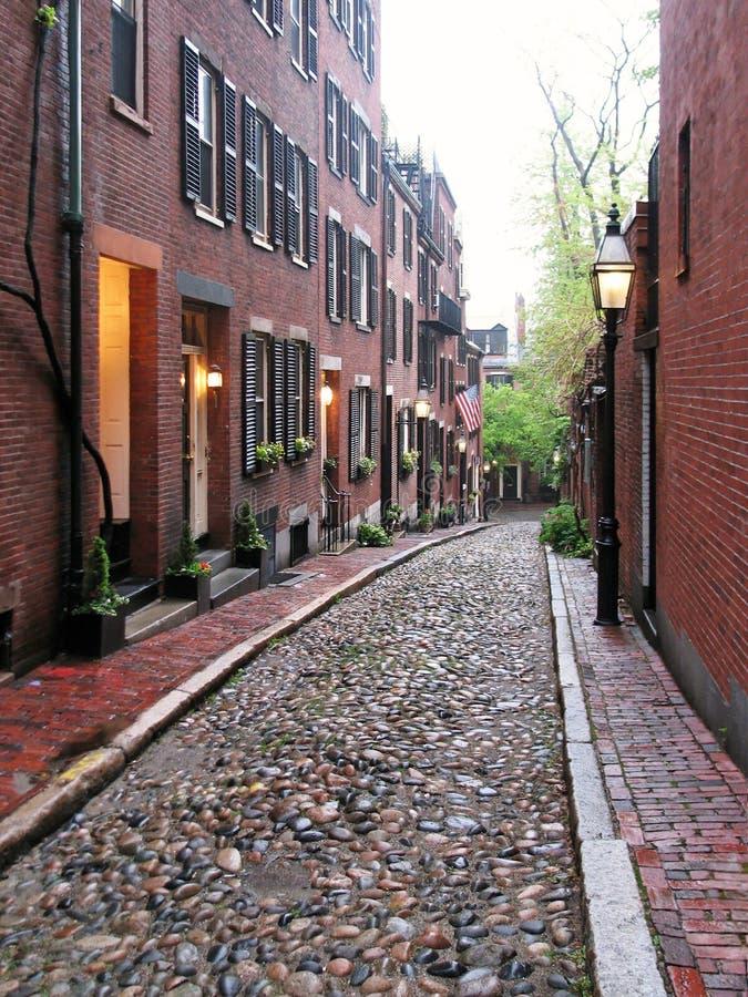 Boston - Acorn Street stock images