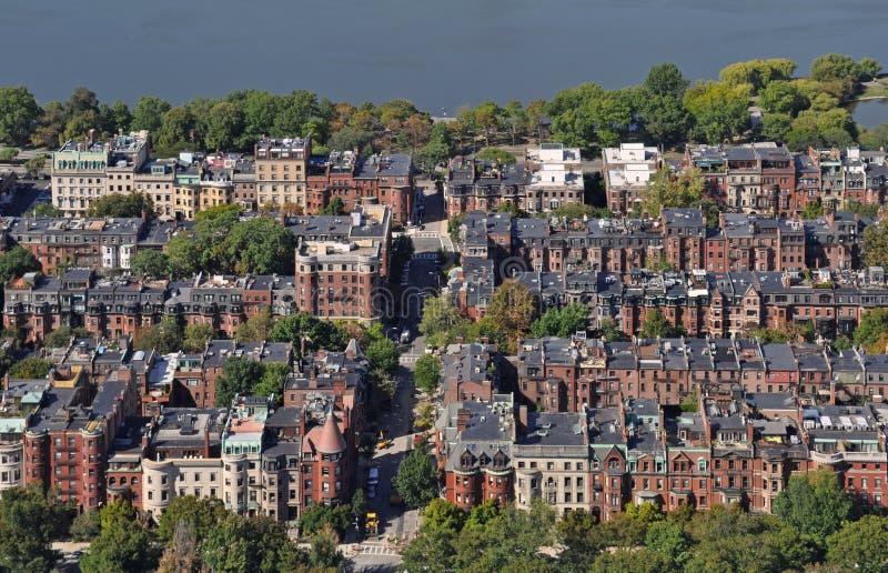Boston-Ansicht von der vernünftigen Mitte lizenzfreie stockfotos