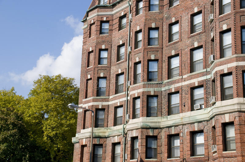 Boston Architecture. During the Fall with Blue Sky royalty free stock image