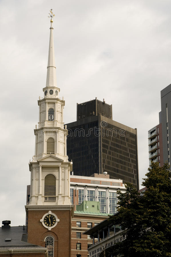 Boston Architecture. With a Variety of Styles including Old and New royalty free stock photo