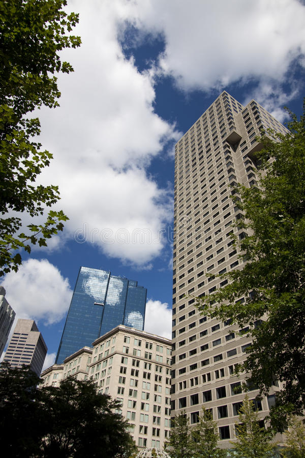Boston Architecture. And office buildings near Boston Common royalty free stock photo