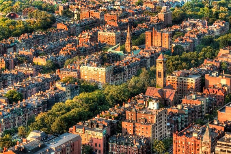 Boston Architecture. Aerial view of Boston's architecture in Massachusetts, USA stock photography