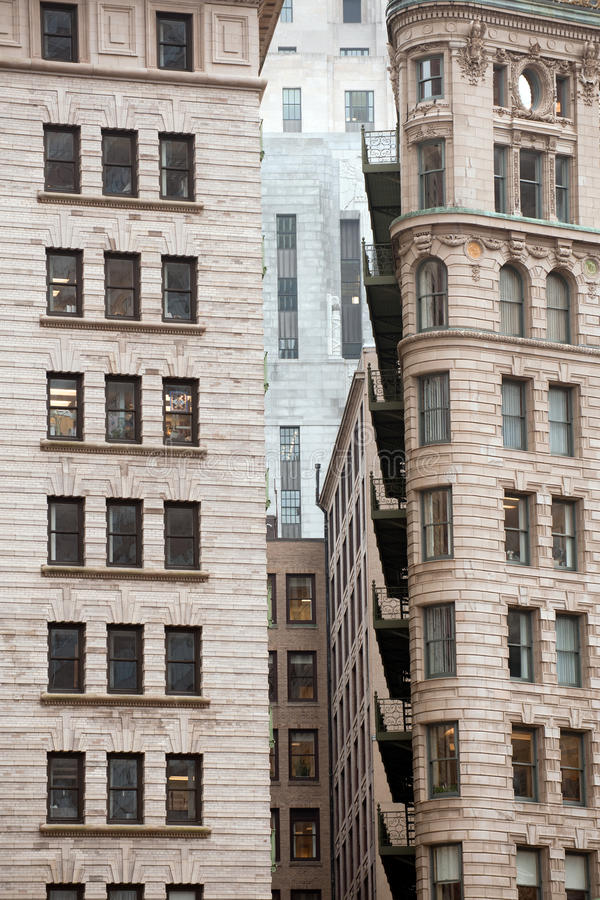 Boston architecture. Highrises of Financial district in downtown Boston, MA stock image