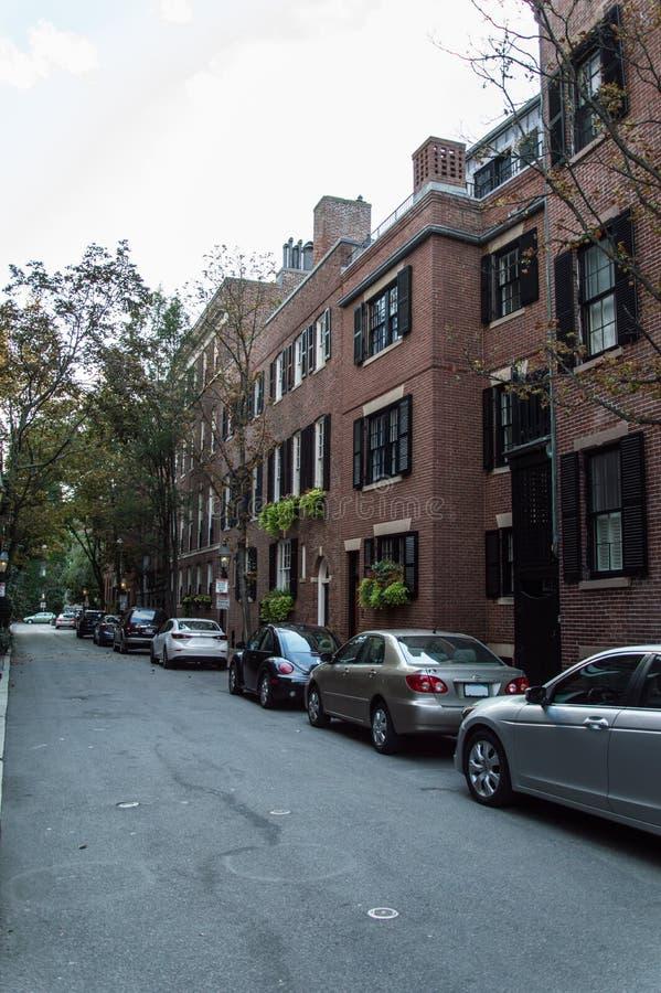 Boston architecture. The old style brick architecture in Boston, MA, USA stock photos