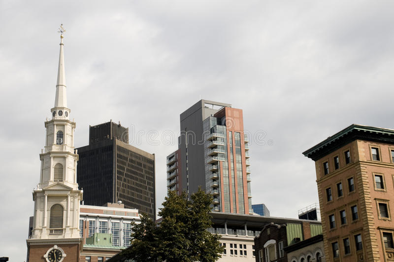 Boston avec la variété de constructions photo libre de droits