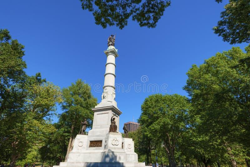Boston błoń żołnierza ` s i żeglarza ` s zabytek fotografia royalty free