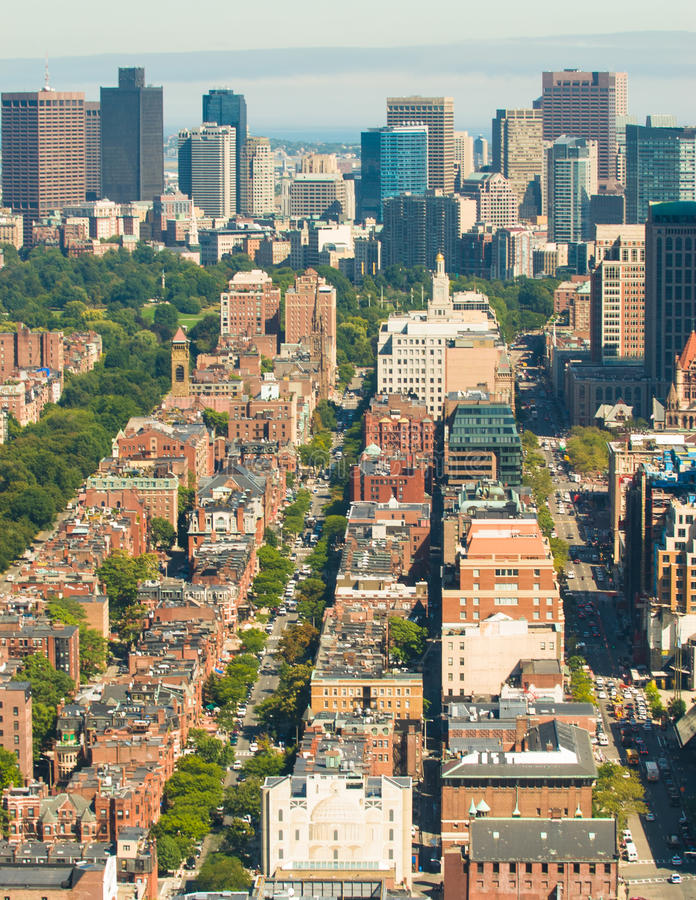 Boston Back Bay aerial stock photography