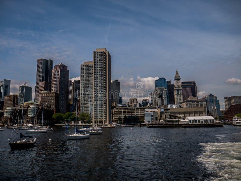 Boston Bay in winter stock photos