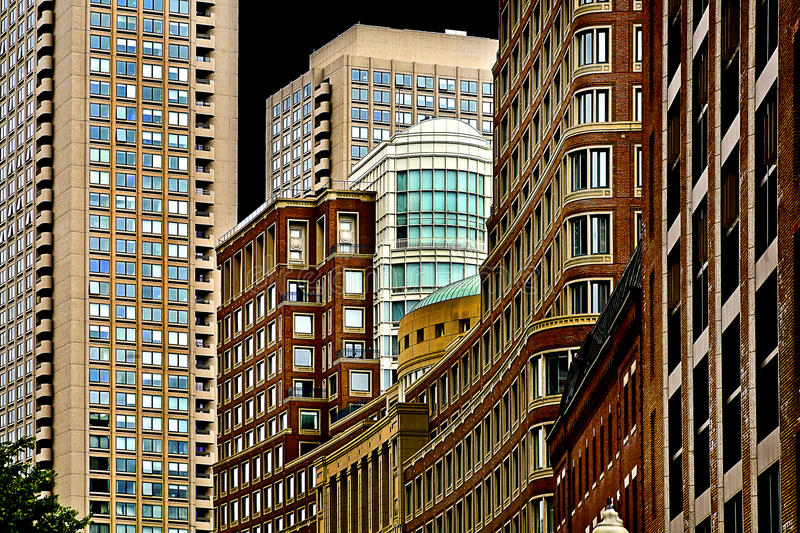Boston. Beautiful innercity boston architecture. near quincy square royalty free stock images