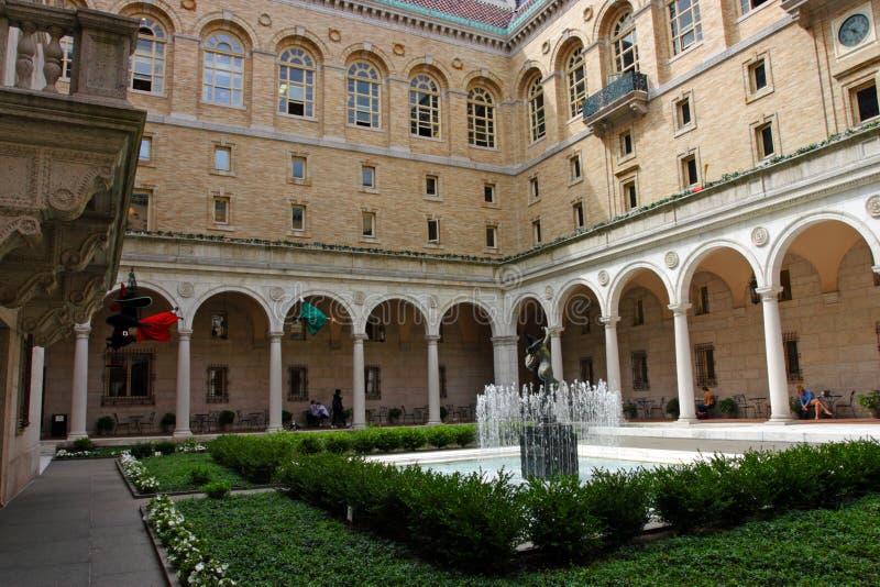 Boston biblioteka publiczna jest jeden wielcy miejscy biblioteka publiczna systemy w Stany Zjednoczone zdjęcie stock