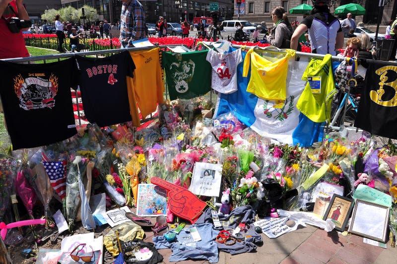 Boston bombardowania Maratoński pomnik zdjęcia stock