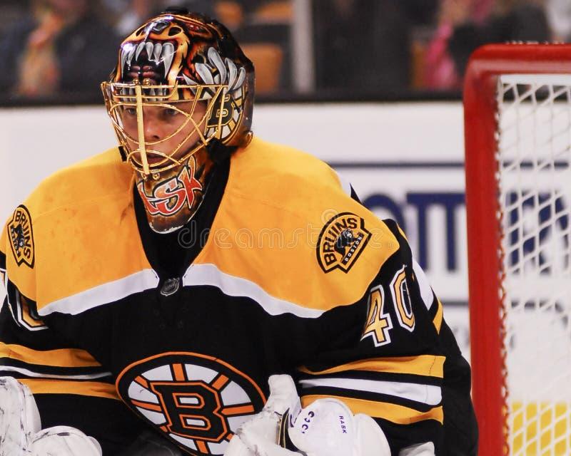 Boston Bruins de Tuukka Rask imagenes de archivo