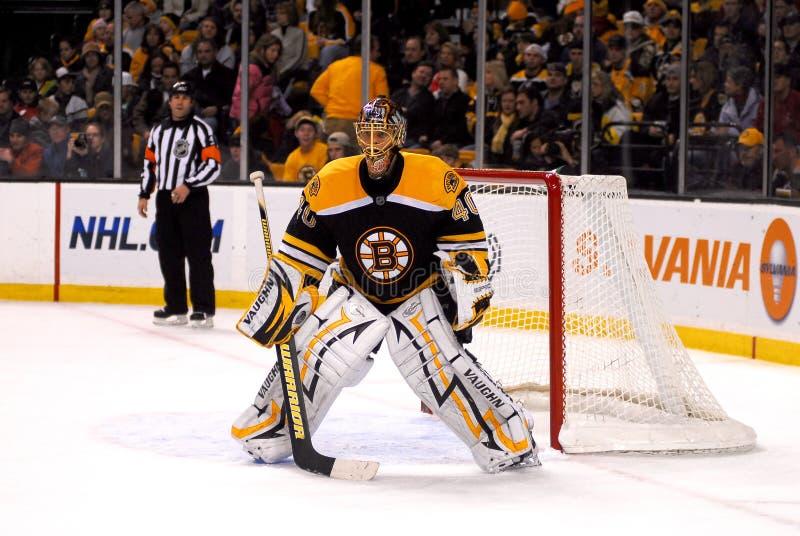 Boston Bruins goaltender Tuukka Rask. #40 Tuukka Rask of the Boston Bruins stock images