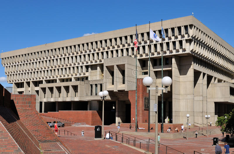 boston center stadsstyrelsenkorridor arkivfoton