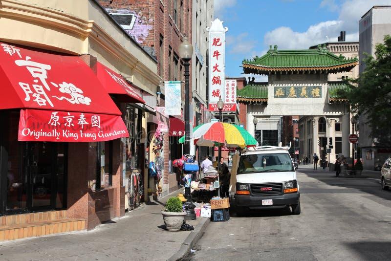 Boston Chinatown stockfotos