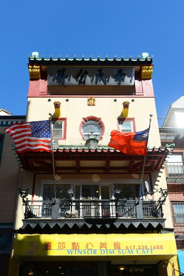 Boston Chinatown, le Massachusetts, Etats-Unis photographie stock libre de droits