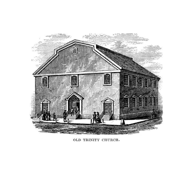 Boston city. Engraving illustration stock illustration