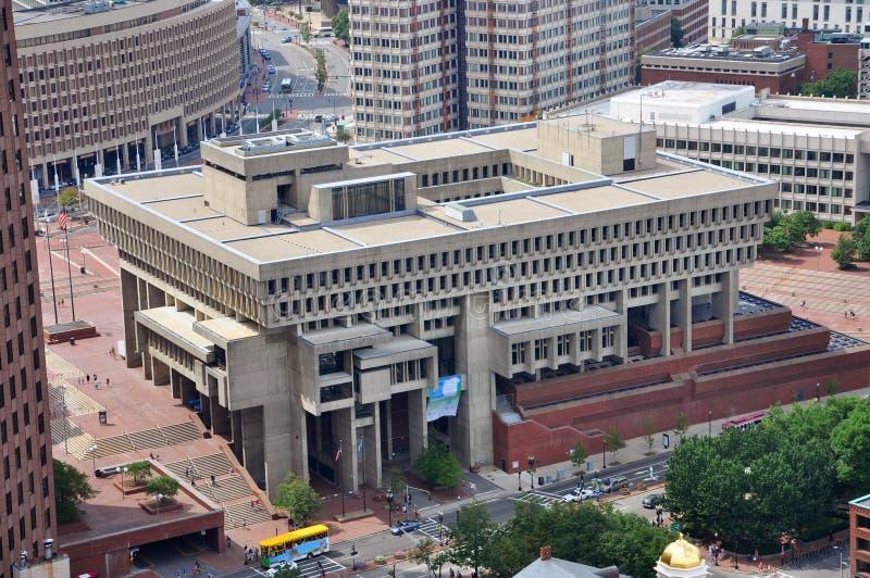 Boston City Hall aerial view
